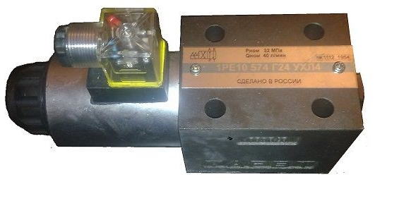 Гидрораспределители 1РЕ6(10) золотниковые Ду=6(10)мм с электромагнитным управлением
