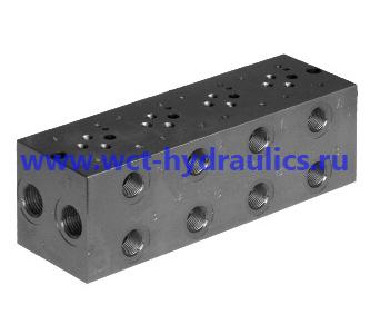 Многоместные монтажные плиты с боковым расположением присоединительных отверстий для клапанов по СЕТОР 03 P2AL  EM213