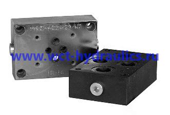 Плиты для стыкового монтажа клапанов контроля давления, регуляторов расхода и электромагнитных распределителей. СЕТОР-03, -05, -Р05, -Р07, -08 PM