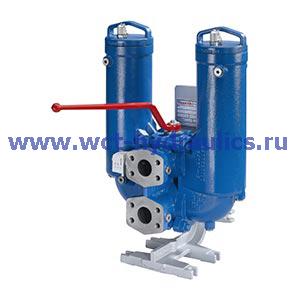 Двойной фильтр с фильтроэлементом согласно DIN 24550 63FLDK(N)