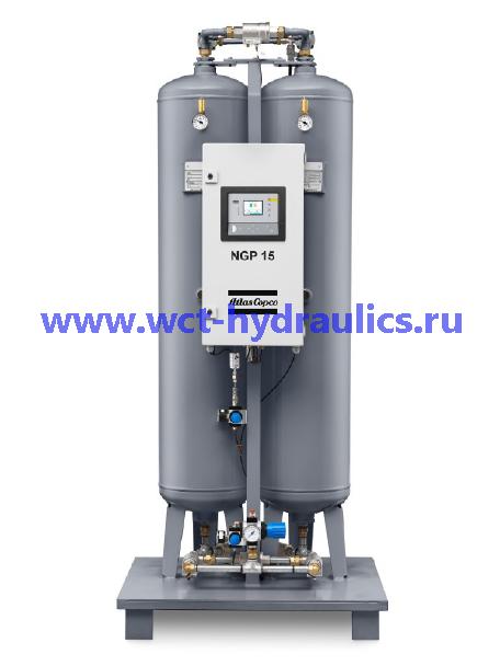 Серия NGP: Азотные генераторы PSA, производительность 1-300 л/с, поток 4-1100 Нм³/ч, чистота 95-99,999%
