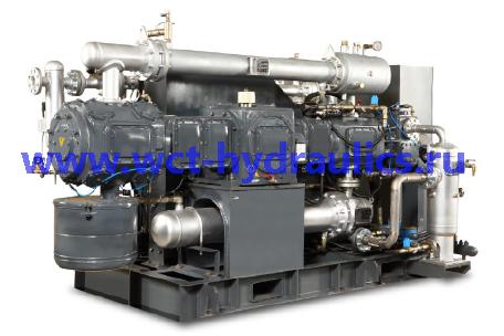 P: Безмасляные поршневые компрессоры с давлением до 40 бар (580 фунтов/кв. дюйм), 37-275 кВт/ 50-368 л.с.
