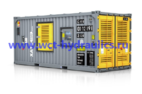 Компрессор передвижной большой мощности XATS 1600 zone2: сертифицирован по стандарту ATEX94/9/EC для применения в опасных условиях (Зона 2/Класс 1, Подразделение 2) (1600 куб.фут./мин при 150 фунтах/кв. дюйм - 45 м³/мин при 10,3 бар)