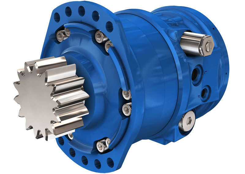 Гидромоторы с приводом поворота серии MZE03