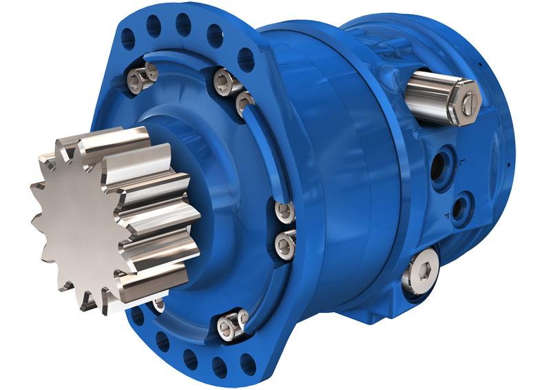 Гидромоторы с приводом поворота серии MZ/MZE02