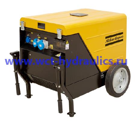 Передвижные генераторы 4,1-13,9 кВА (с шумоизолирующим кожухом): Линейка QEP