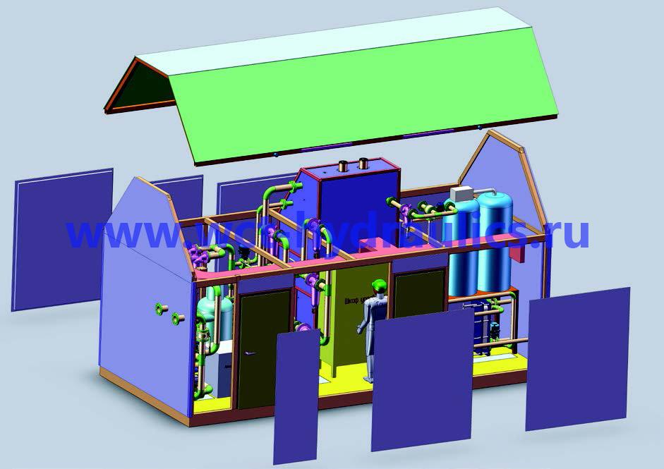 Стенд для промывки и гидравлических испытаний трубопроводных систем